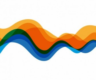 Vector Waves Color Background Graphic Abstract Vector Graphics