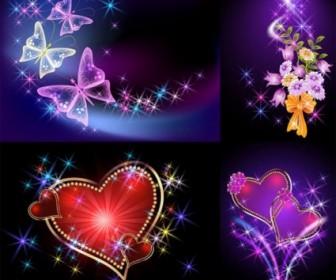 Vector Light Romantic Background Vector Art