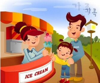 Vector Iclickart Illustration 9 Family Cartoon Vector Art