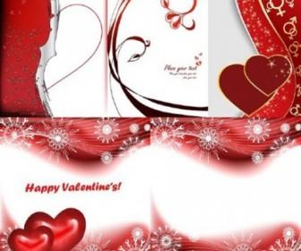 Vector 5 Red Peach Day Clip Heart Vector Art