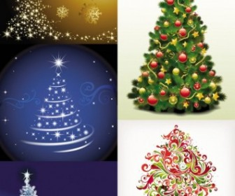 Vector Exquisite Tree 3 Christmas Vector Graphics