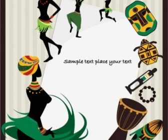 Vector African Pattern 04 Background Vector Art