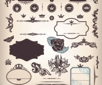 Vector The Classic Stickers 05 Pattern Vector Art