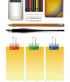 Vector Stationery Vector Art