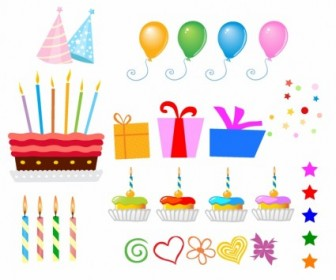 Vector Surprise Birthday Design Elements Vector Art