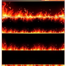 Vector Burning Flame Frame Vector Art
