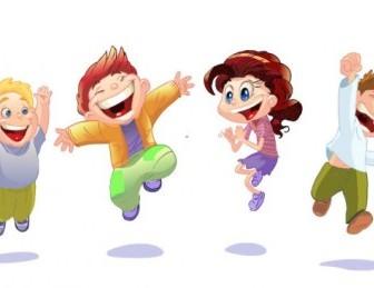 Vector Children 01 Cartoon Vector Art