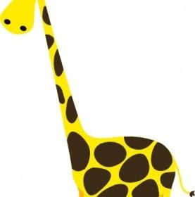 Vector Cartoon Giraffe Vector Clip Art