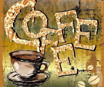 Vector Creative Coffee Illustrator 05 Vector Art