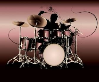 Vector Fine Drum 02 Vector Art