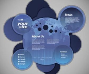 Vector Circular Template 03 Web Design Vector Graphics
