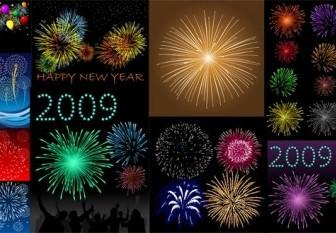 Vector 10 Dazzling Fireworks Vector Art