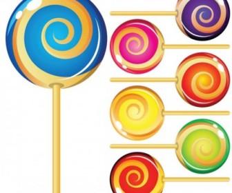Vector Colorful Lollipop Vector Art