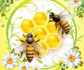 Vector Bee Animal Vector Graphics