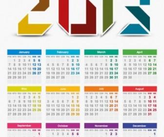 Vector 2013 Year Calendar Vector Art