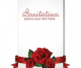 Vector Romantic Wedding Invitations Vector Art