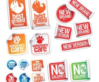 Vector Nice Sticker Label Vector Art