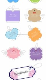 Vector 10 Lovely Label Tag Vector Art