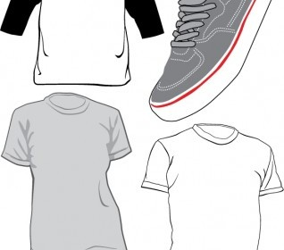 Vector TShirts And Sneaker Vector Art