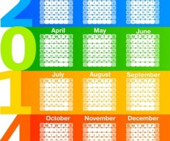 Vector Calendar 2014 Vector Art