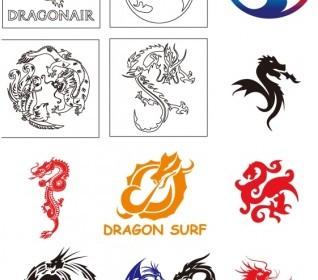 Vector Dragon Collection Vector Art