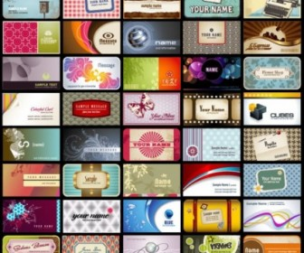 Vector A Variety Of Card Background Vector Art