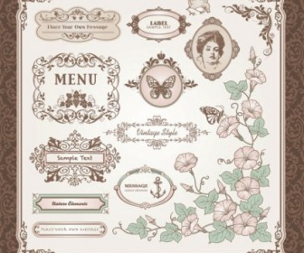 Vector Exquisite Europeanstyle Label 01 Pattern Vector Art