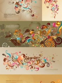 Vector Trend Of Colorful Case Series Brown 5p Vector Art