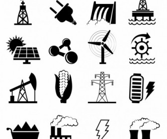 Vector Alternative Energy Options Icons Icon Vector Graphics