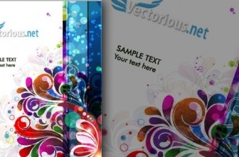 Vector Abstract Colorful Background Illustration Flower Vector Art