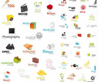 Vector A Variety Of Beautiful Icons Icon Vector Graphics