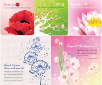 Vector Background Color Flowers Card Flower Vector Art