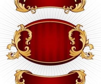 Vector European Gorgeous Bulletin Board Pattern Vector Art