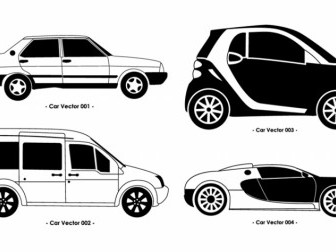 Vector Set Car Vector Art