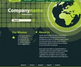 Vector Sense Of Technology Website Template 01 Web Design Vector Graphics