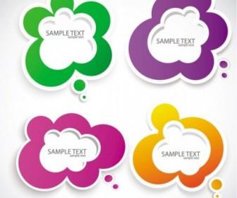 Vector Beautiful Stickers 05 Vector Art