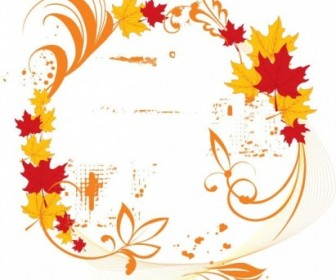 Vector Autumn Elegant Frame Vector Art