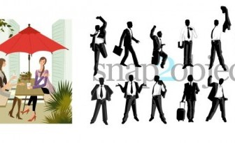 Vector Silhouettes People Vector Art