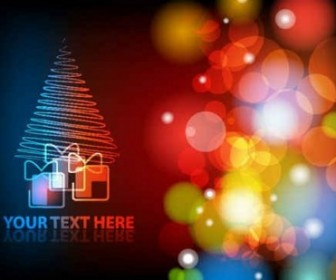 Vector Gorgeous Christmas Background Vector Art