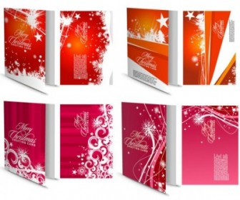 Vector Beautiful Cards Christmas Vector Graphics