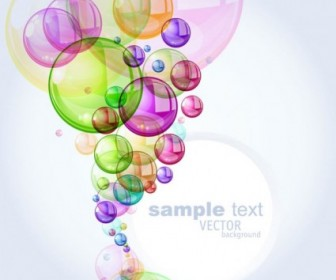 Vector Colorful Bubbles 01 Background Vector Art
