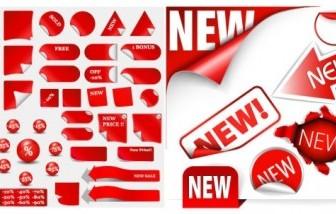 Vector Discount Sales Decorative Icon Vector Graphics