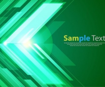 Vector Green Background With Bright Graphic Abstract Vector Graphics