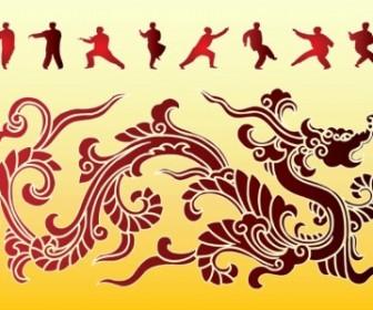 Vector Dragon Kung Fu Vector Art
