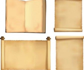 Vector Classic Nostalgic Version Of The Paper Scrolls Vector Art