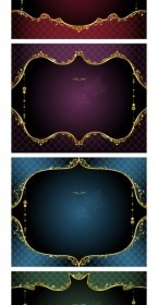 Vector Gold Ornate Lace Vector Art