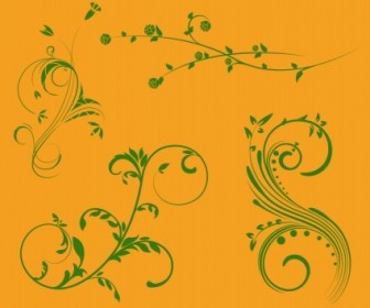 Vector Nature Scroll Ornaments Vector Art