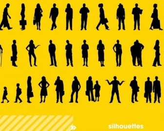 Vector Silhouettes Vector Graphics