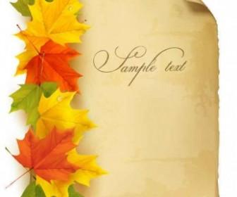Vector Paper Maple Leaf Background Vector Art
