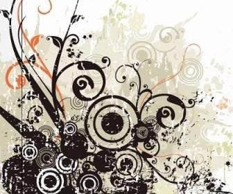 Vector Black Flowers Swirls Flower Vector Art